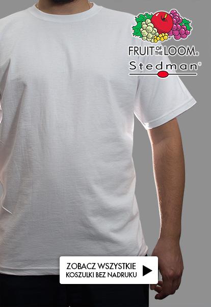 Koszulki bez nadruku - Fruit of the Loom i Stedman