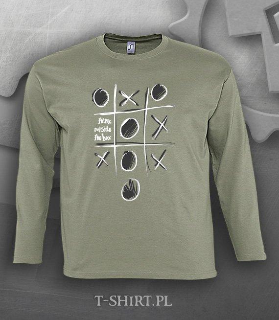 9f434f51ec7c8a Koszulka długi rękaw z nadrukiem - Think outside the box 3XL - 5XL - W  sklepie internetowym T-shirt.pl