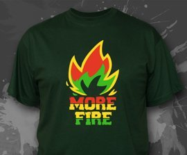 T-shirt z nadrukiem - MORE FIRE