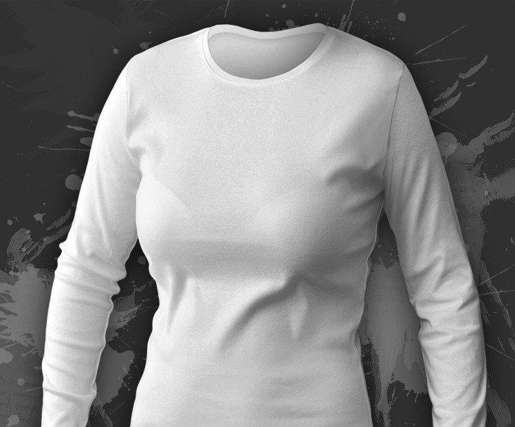 e3514eb6e74191 Koszulka damska z długim rękawem biała - W sklepie internetowym T ...