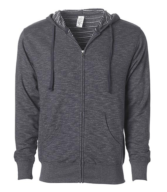 Bluza rozpinana z kapturem - Men`s Midweight Baja Stripe French Terry Zip Hood