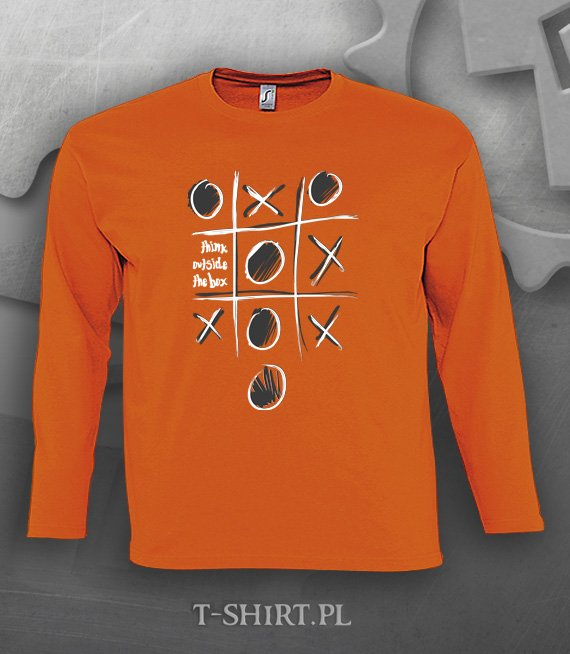 Koszulka długi rękaw z nadrukiem - Think outside the box 3XL - 5XL